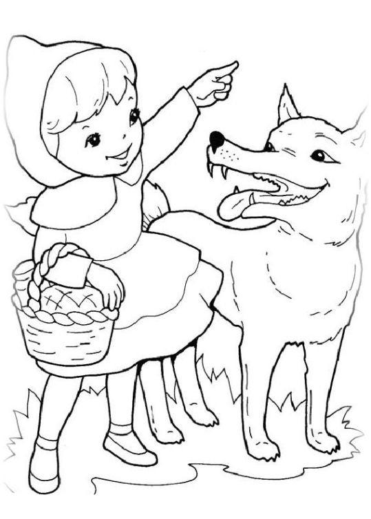 Ausmalbilder Rotkäppchen  Ausmalbilder für Kinder Rotkappchen 1