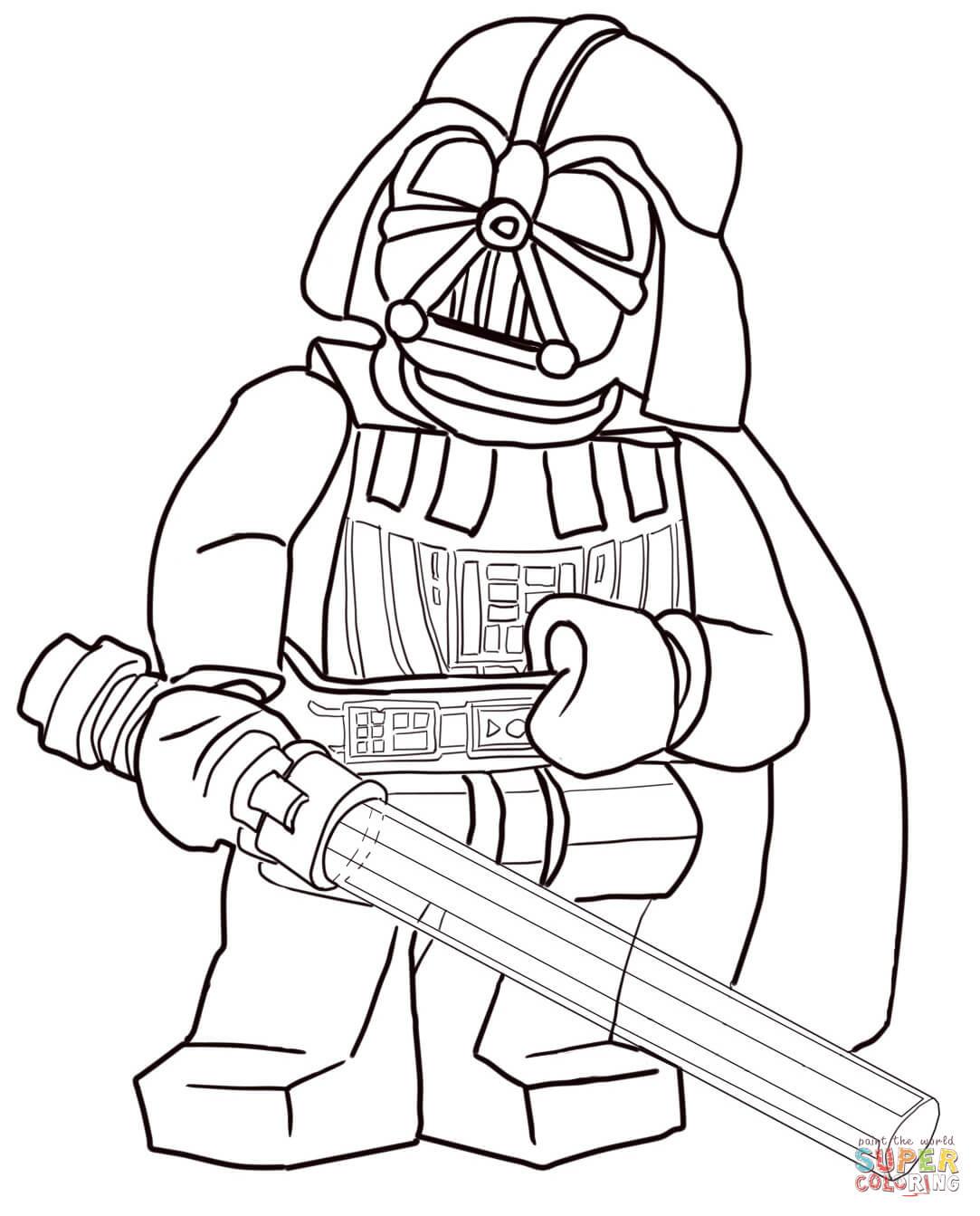 Ausmalbilder Star Wars Lego  Ausmalbild Lego Star Wars Darth Vader