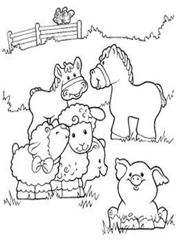 Ausmalbilder Tiere Bauernhof  Ausmalbilder Bauernhof 20