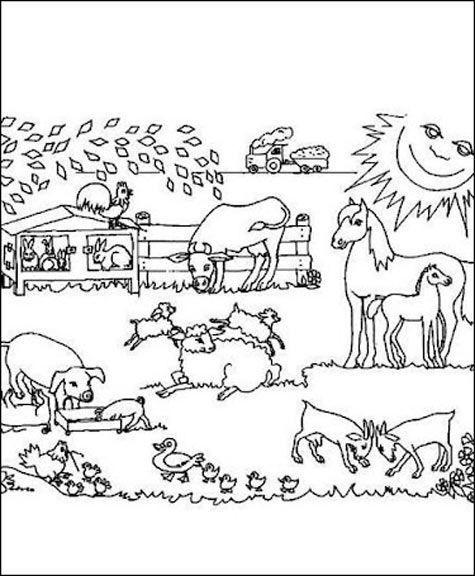 Ausmalbilder Tiere Bauernhof  Ausmalbilder Bauernhof 11