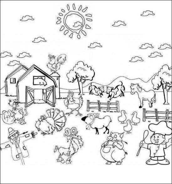 Ausmalbilder Tiere Bauernhof  Ausmalbilder Bauernhof 16