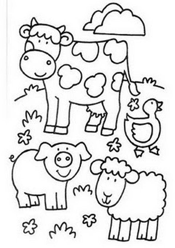 Ausmalbilder Tiere Bauernhof  Ausmalbilder Bauernhof 18