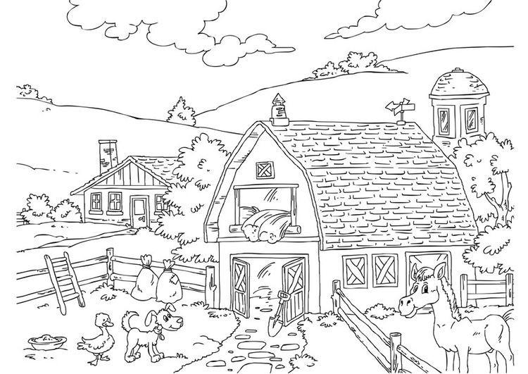 Ausmalbilder Tiere Bauernhof  AUSMALBILDER BAUERNHOF – Ausmalbilder für kinder