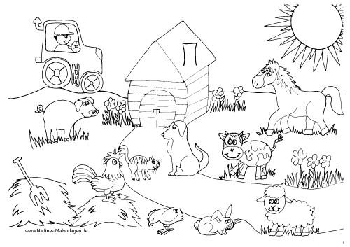 Ausmalbilder Tiere Bauernhof  Ausmalbilder Bauernhof 337 Malvorlage Alle Ausmalbilder