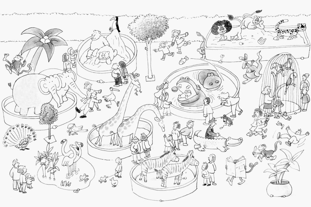 Ausmalbilder Tiere Zoo  Ausmalbilder Tiere Zoo Malvorlagen Tiere Kostenlos Elegant