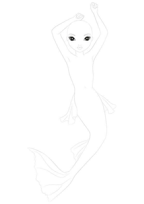 die 20 besten ideen für ausmalbilder topmodel meerjungfrau