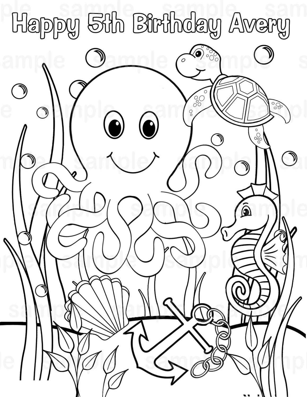 Ausmalbilder Unterwasserwelt  Malvorlagen fur kinder Ausmalbilder Unterwasserwelt