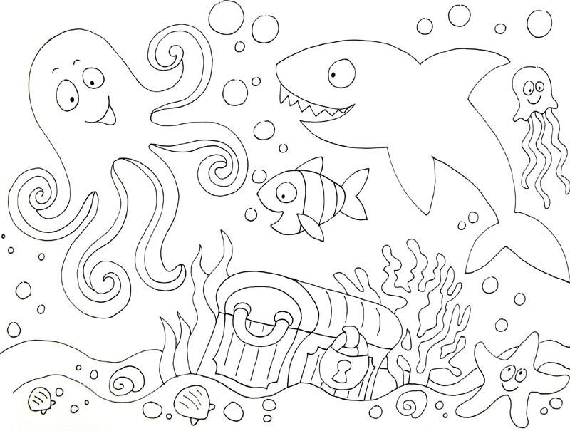 Ausmalbilder Unterwasserwelt  Ausmalbilder unterwasserwelt kostenlos Malvorlagen zum