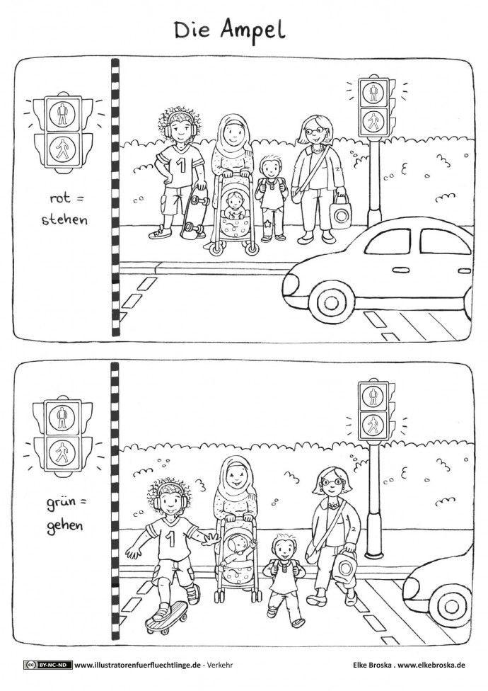 Ausmalbilder Verkehrserziehung  8 besten Verkehrserziehung im Kiga Bilder auf Pinterest