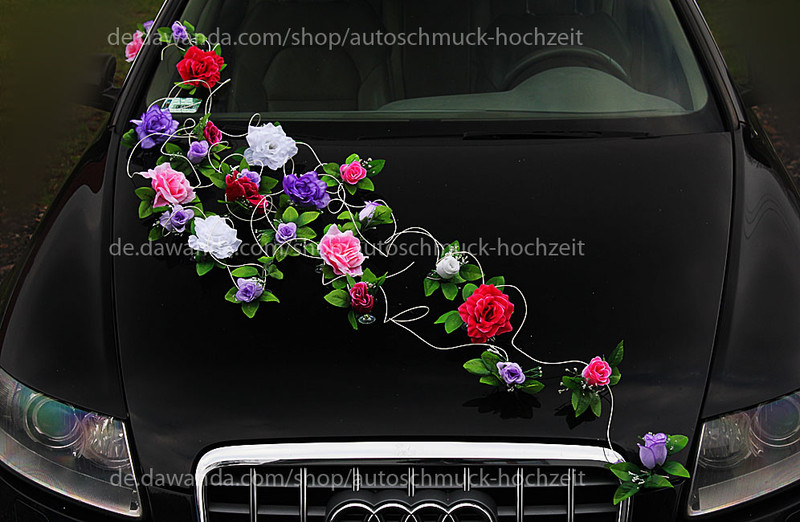 Autoschmuck Für Hochzeit  Hochzeitsdeko Blumenschmuck Autoschmuck für Hochzeit