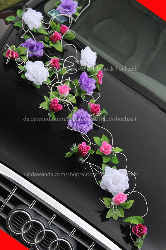 Autoschmuck Für Hochzeit  Hochzeitsdeko Autoschmuck Blumen für Hochzeit Autodeko