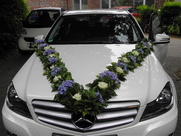 Autoschmuck Für Hochzeit  Autoschmuck für Hochzeit Blüten Zauber Velbert