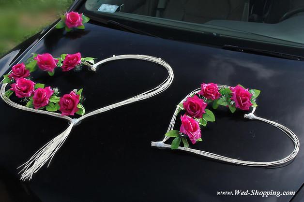 Autoschmuck Für Hochzeit  Hochzeitsdeko Autodekoration Hochzeit Rosen und Rattan
