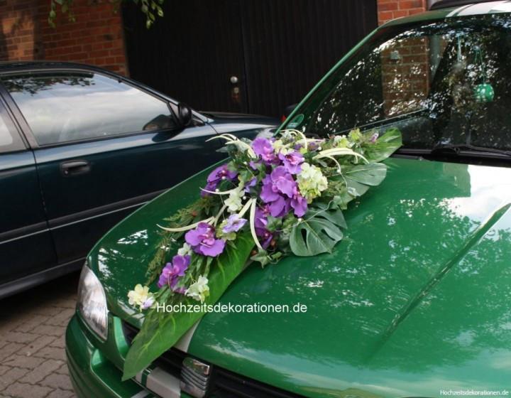 Autoschmuck Hochzeit  Autogsteck orchideen Hochzeit