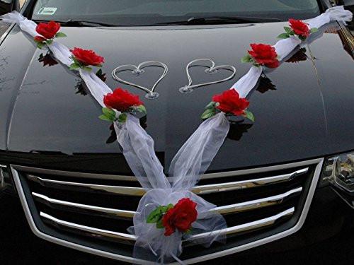 Autoschmuck Hochzeit  Autoschmuck für den Tag der Hochzeit bei Amazon