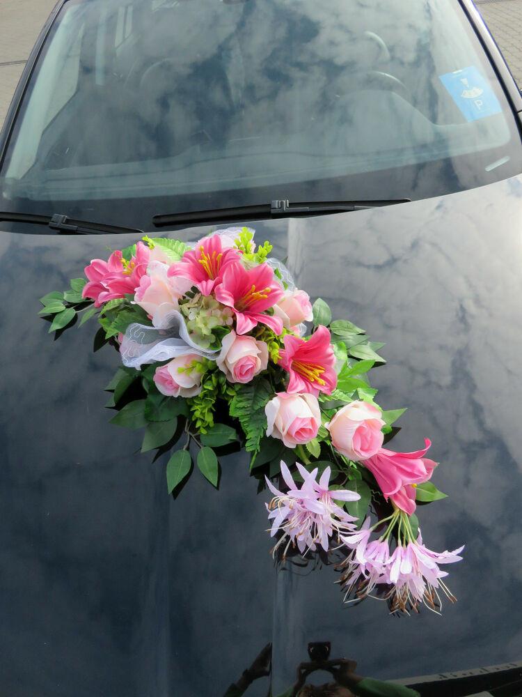 Autoschmuck Hochzeit  A 3 Exclusiver Autoschmuck Hochzeit Autogesteck Gesteck