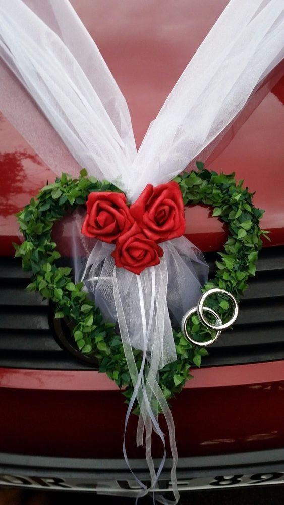 Autoschmuck Hochzeit  Autoschmuck Hochzeit Autodeko Girlande