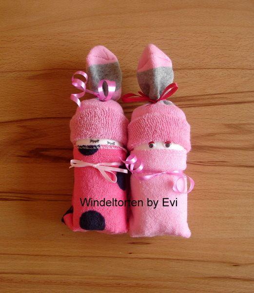 Baby Geschenke Basteln  Windelbabys Girls Mitbringsel zur Geburt