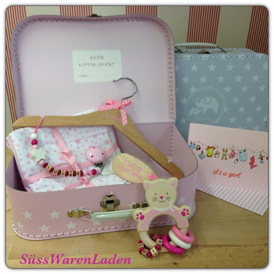 Baby Geschenke Mädchen  Geschenk zur Geburt für Mädchen Geschenkset Koffer mit