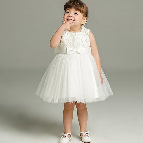 Baby Kleid Hochzeit  AHAHA Baby Mädchen Prinzessin Kleid Blumenmädchenkleid