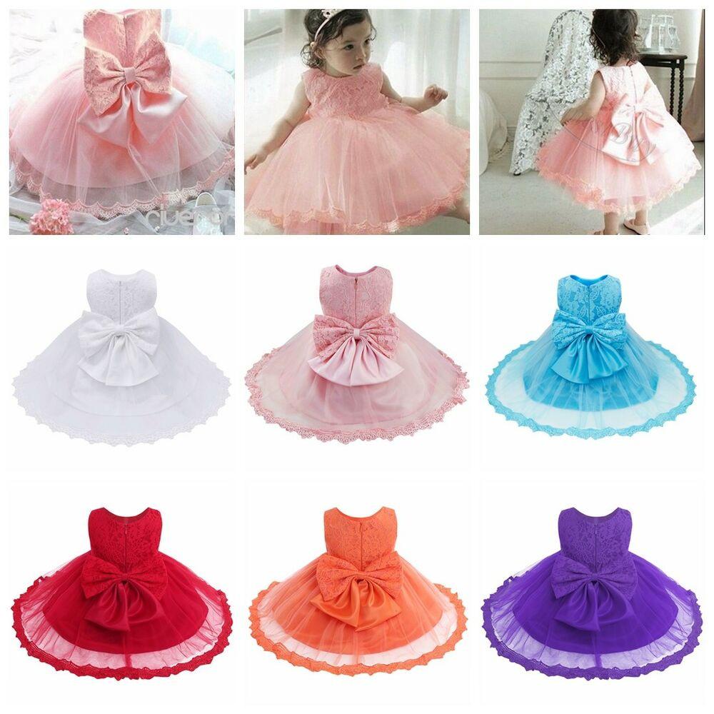 Baby Kleid Hochzeit  Babykleidung Mädchen Spitze Bowknot Baby Prinzessin Kleid