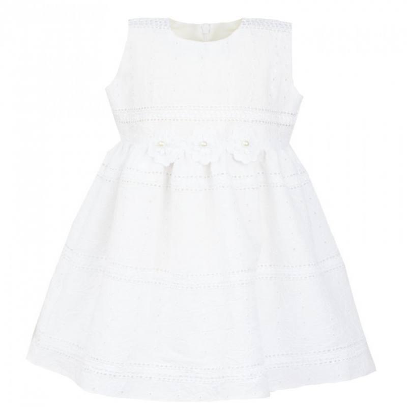 Baby Kleid Hochzeit  Baby Mädchen Kleid Festlich Hochzeit Taufe Bestrickt