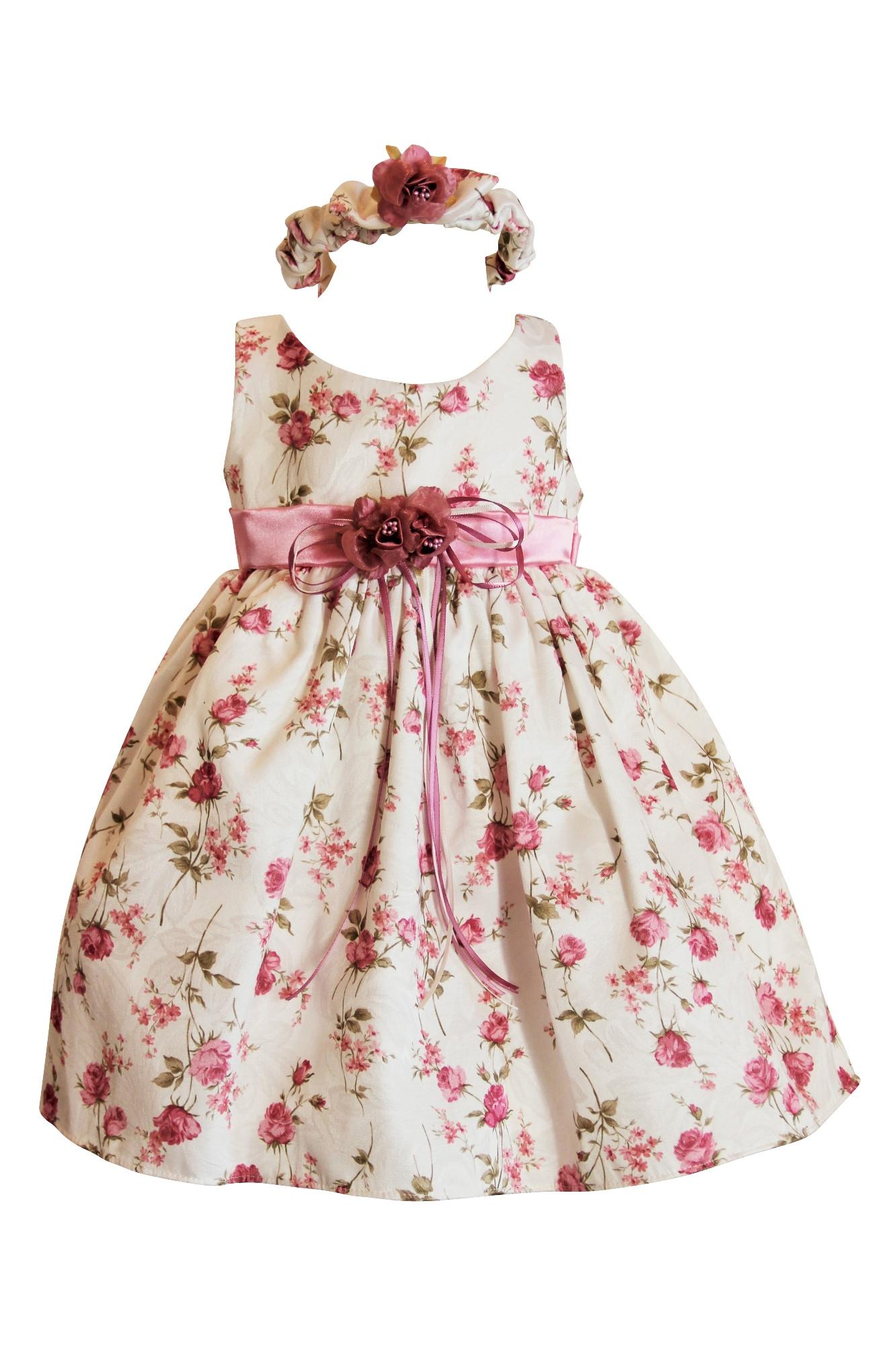 Baby Kleid Hochzeit  BIMARO Baby Mädchen Babykleid Emma rosa creme beige