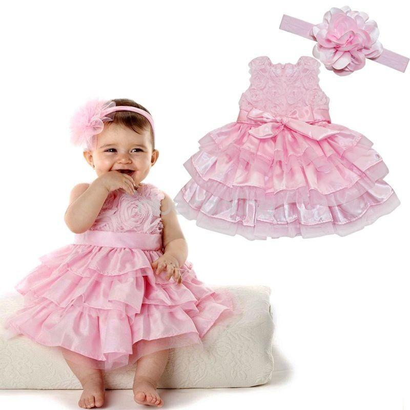 Baby Kleid Hochzeit  Baby Prinzessin Festkleid Blumenmädchen Kleid Taufkleid