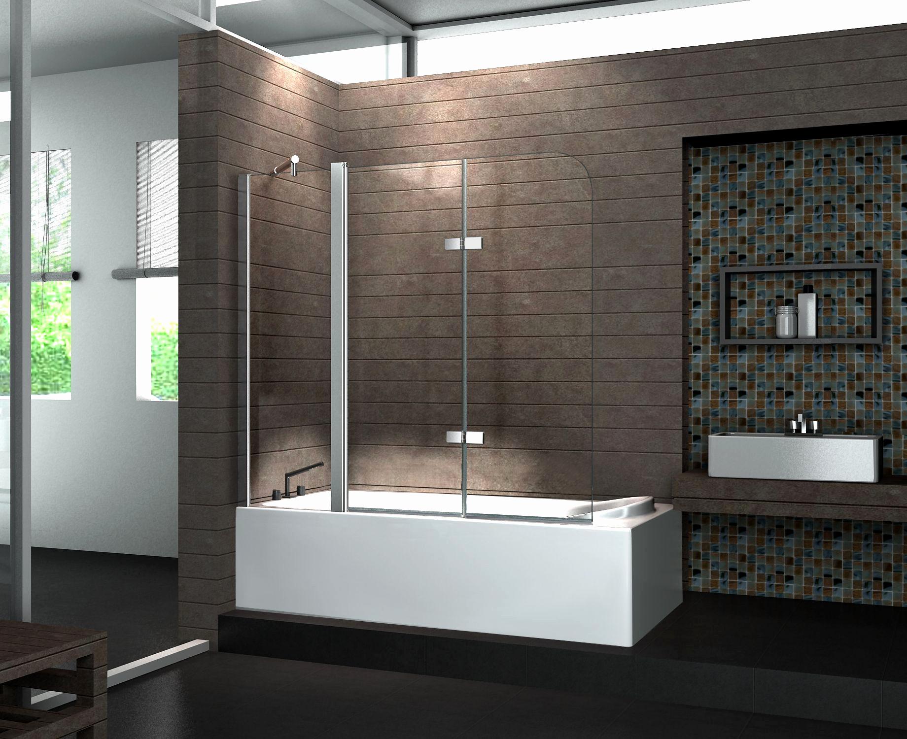 Badewanne Duschwand  Duschwand Badewanne Glas Interieur