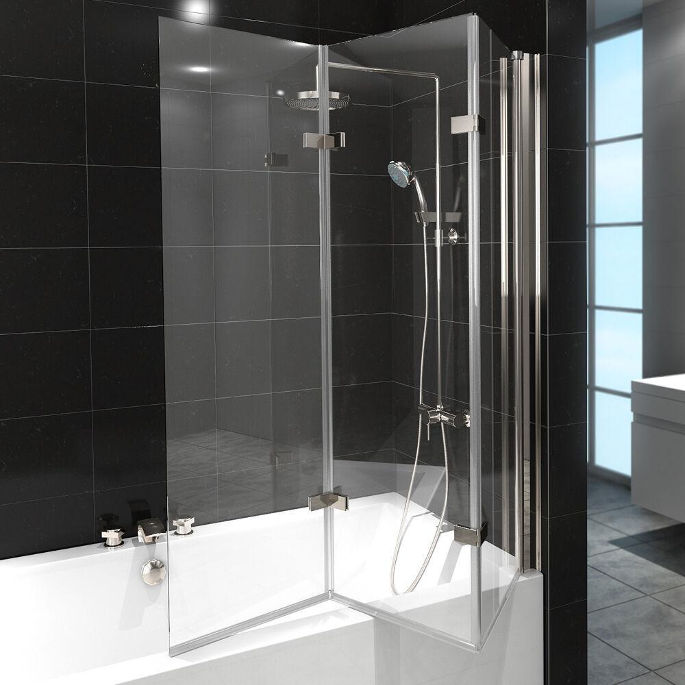Badewanne Duschwand  Duschabtrennung Badewanne Duschwand Badewannenfaltwand
