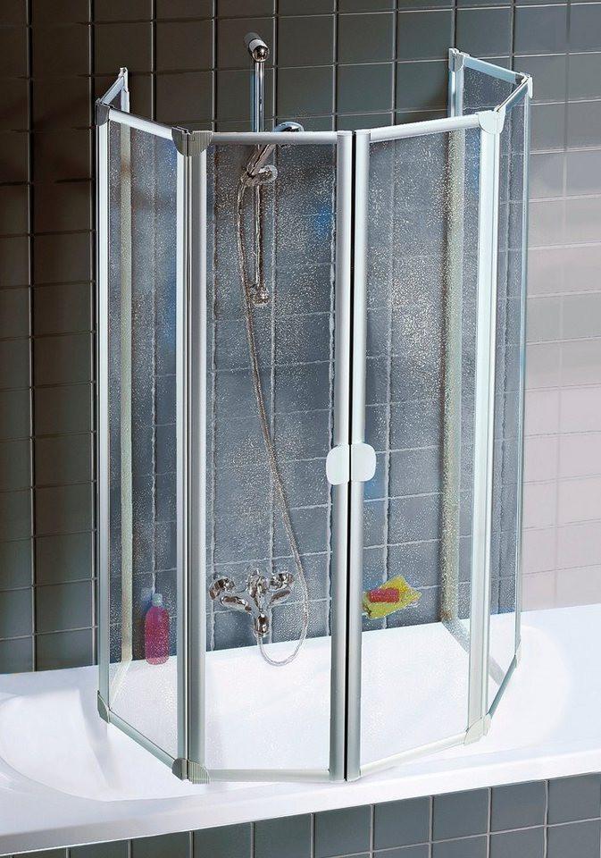 Badewanne Duschwand  SCHULTE Wannenfaltwand Einfach ohne Bohren