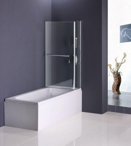 Badewanne Duschwand  Badewanne Aufsatz 180° Duschwand Trennwand Duschabtrennung