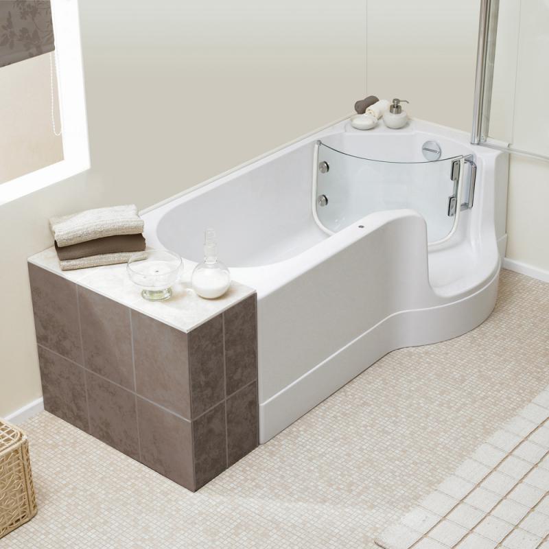 Badewanne Mit Duschzone  Schröder Pazifik Badewanne mit Duschzone Ausführung