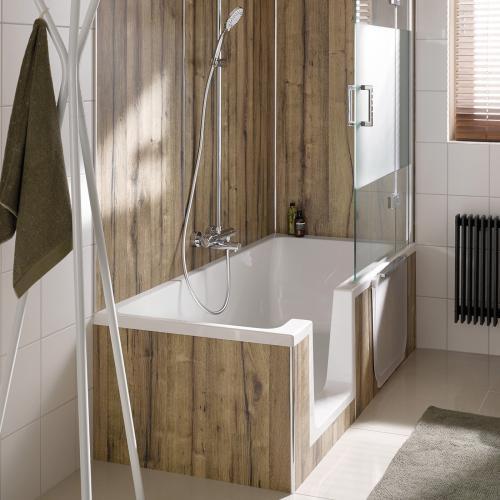 Badewanne Mit Duschzone  HSK Dobla Badewanne mit Duschzone Einstieg links