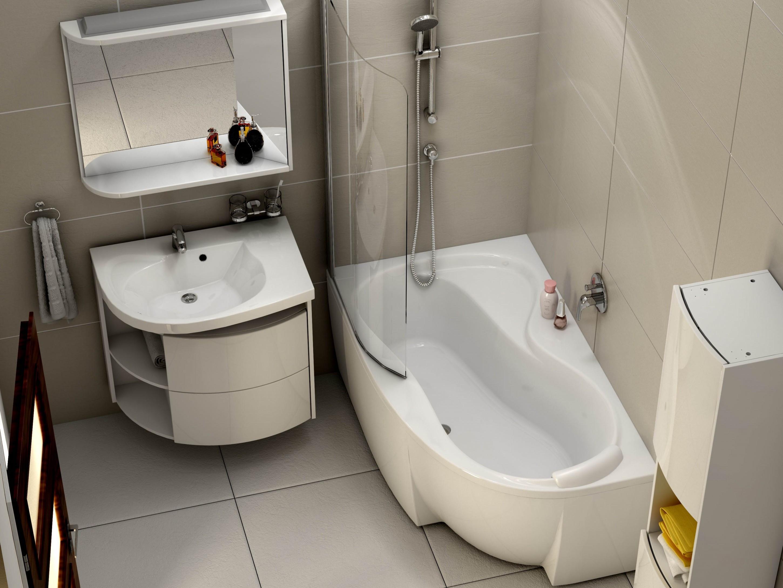 Badewanne Mit Duschzone  asymmetrische Badewanne Schürze 160 x 95 cm und Duschbereich