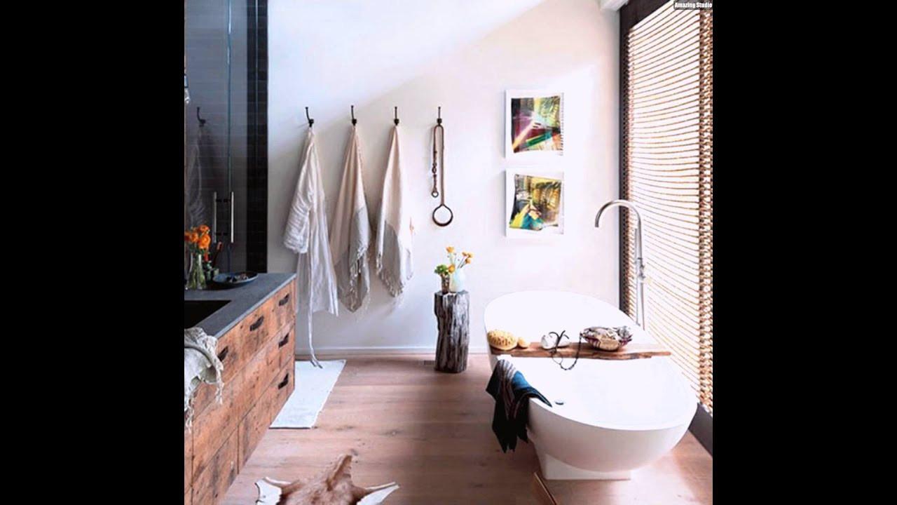 Badezimmer Einrichten  Kleines Rustikales Badezimmer Einrichten Design Ideen Deko