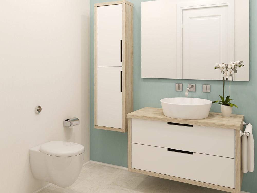 Badezimmer Farbe  Bad streichen Wandfarben fürs Badezimmer Rundum wand