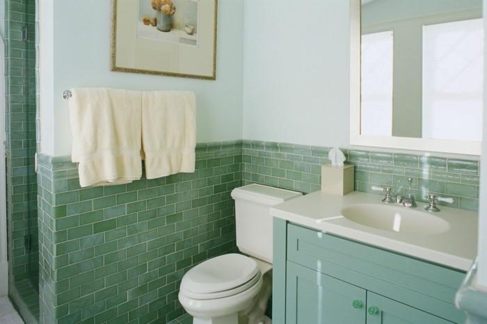 Badezimmer Farbe  50 originelle Ideen wie Sie Fliesen streichen