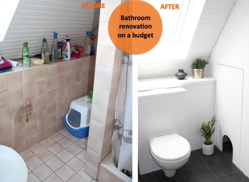 Badezimmer Fliesen Reinigen  Badezimmer Vorher Nachher Schön Badezimmer Unterschrank