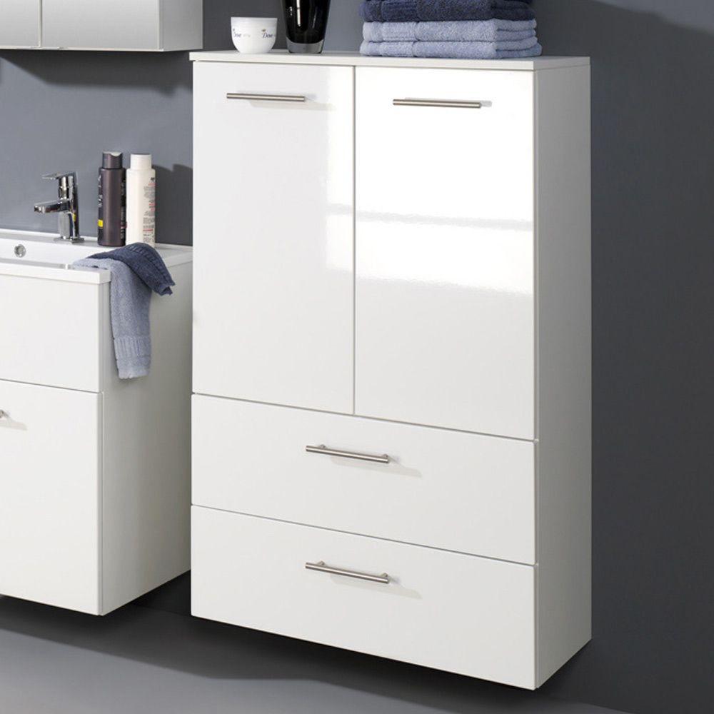 Badezimmer Schrank  Badezimmerschrank Shower in Weiß