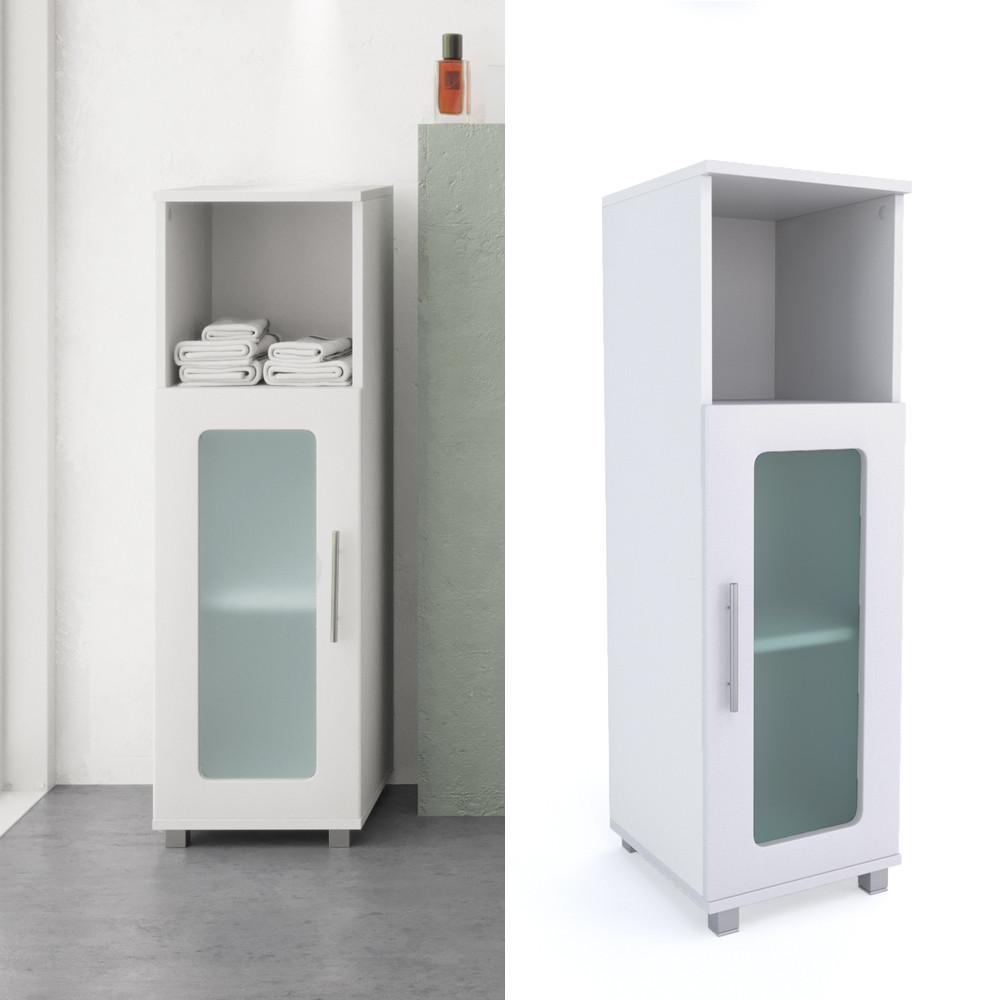 Badezimmer Schrank  Vicco Badschrank RAYK Weiß Midischrank