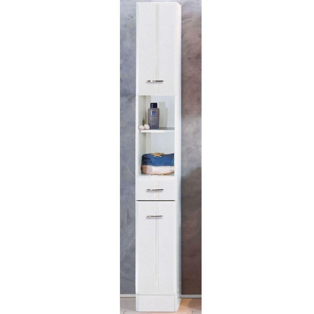Badezimmer Schrank  Badezimmer Schrank Toulouse in Weiß