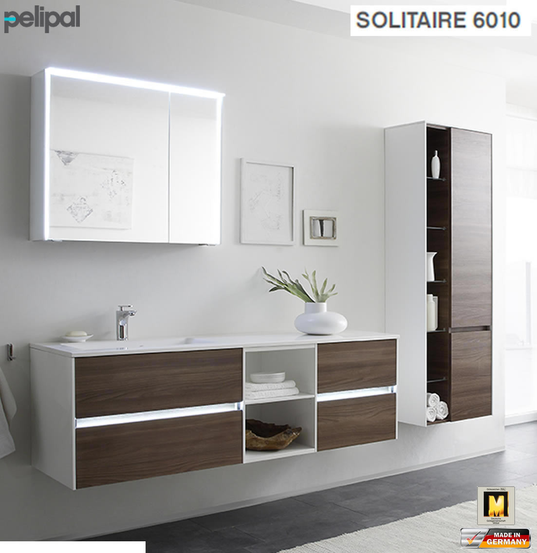 Badmöbel Pelipal  Pelipal Solitaire 6010 Badmöbel Set mit 168 cm