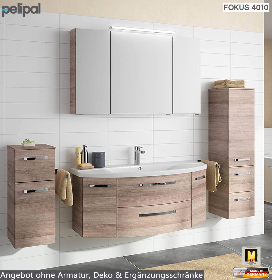 Badmöbel Pelipal  Pelipal Fokus 4010 Badmöbel Set 3tlg 120 cm mit Keramik