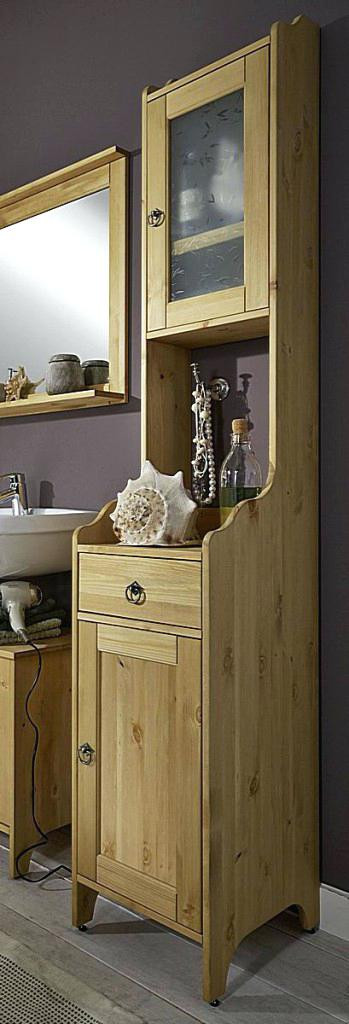 Badschrank Holz  Badschrank Holz
