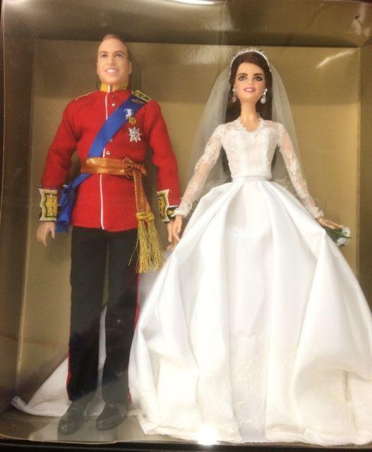 Barbie Hochzeit  Mattel Gold Label Barbie Prince William and Catherine