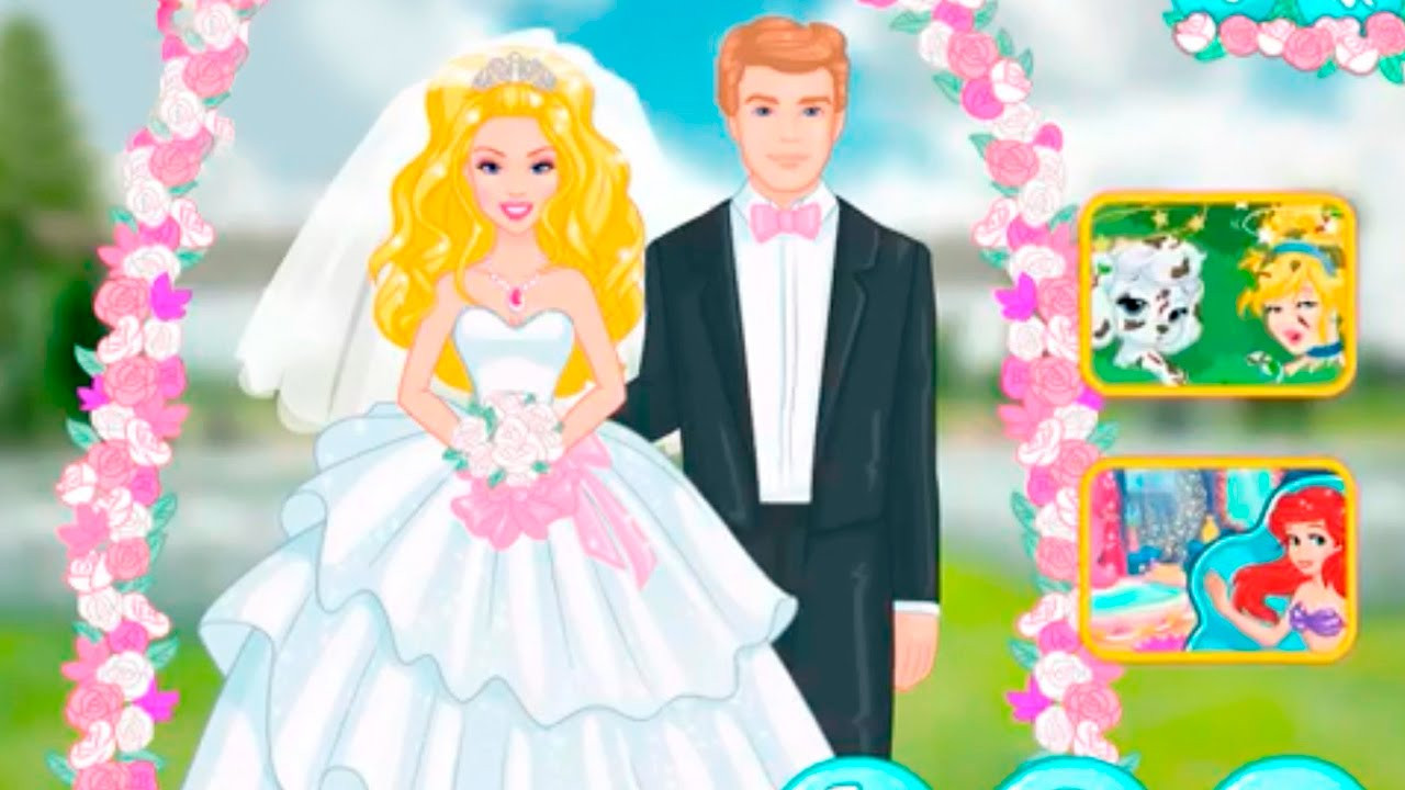 Barbie Hochzeit  Barbie Spiele für Mädchen Barbie Hochzeit Barbie