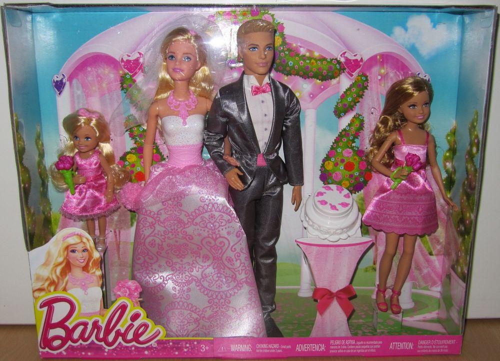 Barbie Hochzeit  Barbie CHG38 Hochzeitsset Hochzeit Set Ken Stacie Chelsea