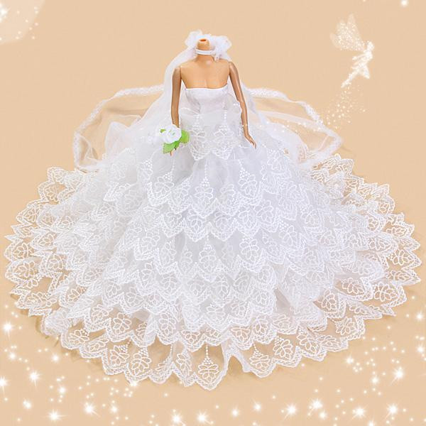 Barbie Hochzeitskleid  10 3 4 in MANNEQUIN DRESS FORM for Barbie Doll DISPLAY
