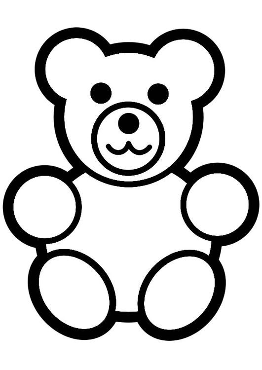 Bären Ausmalbilder  Malvorlage Bärchen Nähen Pinterest